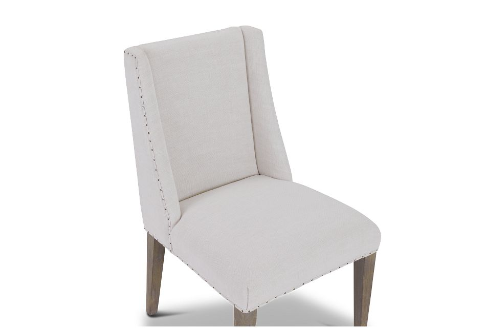Berlin White Upholstered Arm Chair