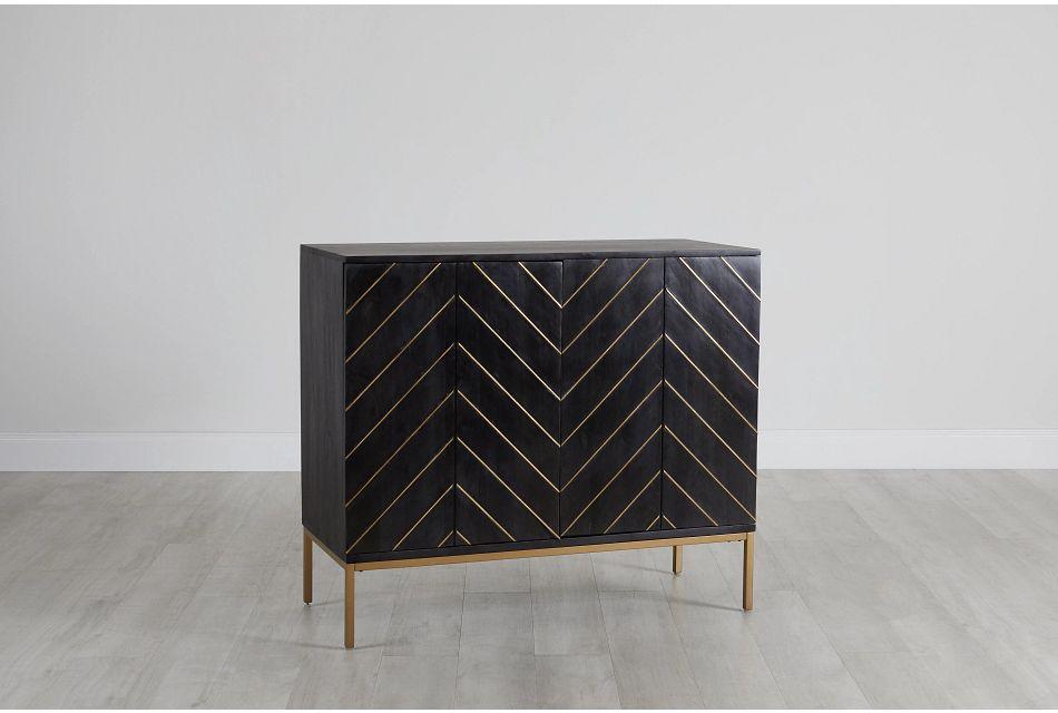 Jeimy Black Two-door Cabinet