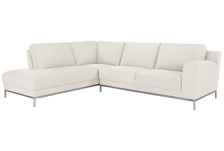 Wynn White Micro Left Chaise Sectional