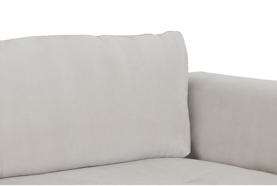 Perry Light Gray Micro Left Chaise Sectional