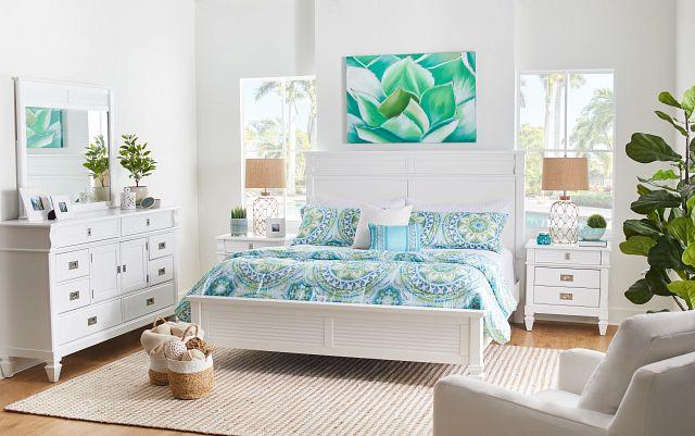 Marina White Panel Storage Bed (2)