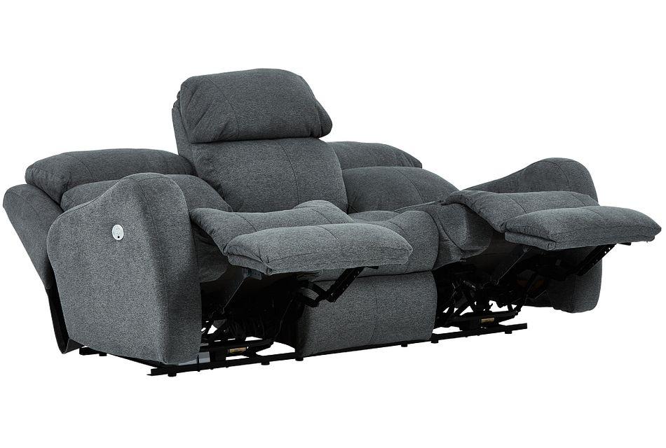 Finn Gray Fabric Power Reclining Sofa
