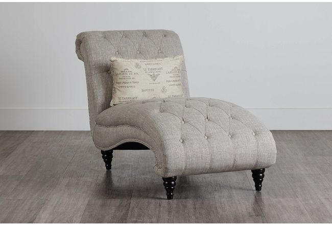 Hutton3 Light Taupe Linen Chaise