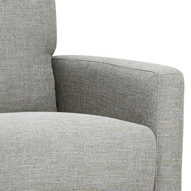 Griffin Pewter Fabric Push Back Recliner
