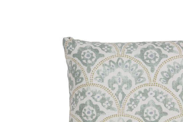Tomini Green Fabric Lumbar Accent Pillow (2)