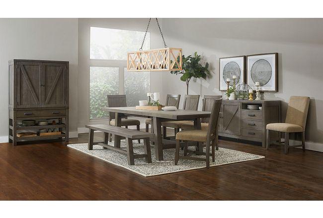 Taryn Gray Rect Dining Room