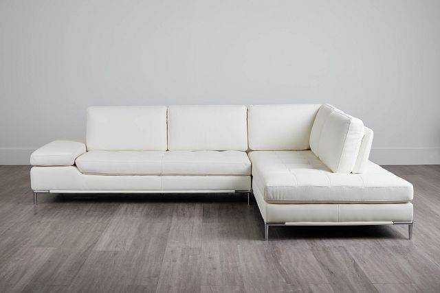 Camden White Micro Right Chaise Sectional (0)