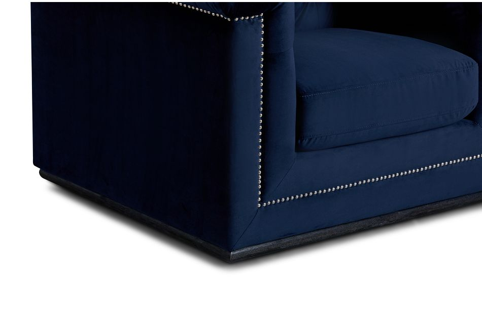 Blair Dark Blue Micro Chair