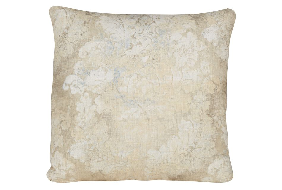 Firenza Gold Fabric Square Accent Pillow