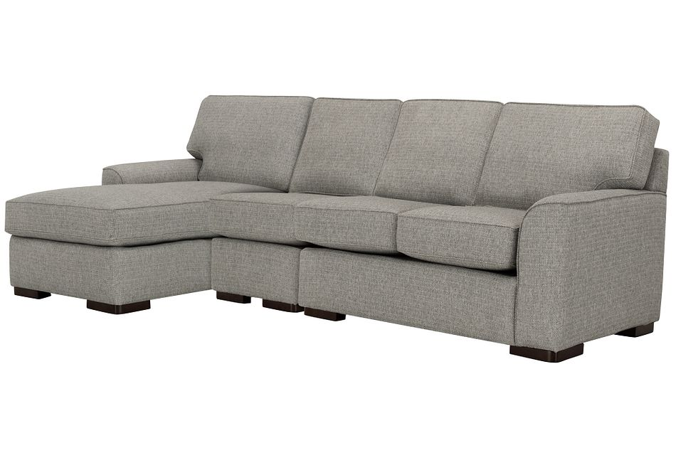 Austin Gray Fabric Small Left Chaise Sectional