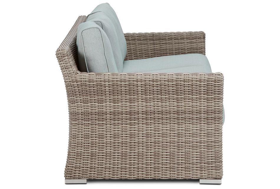 Raleigh Teal Woven Sofa