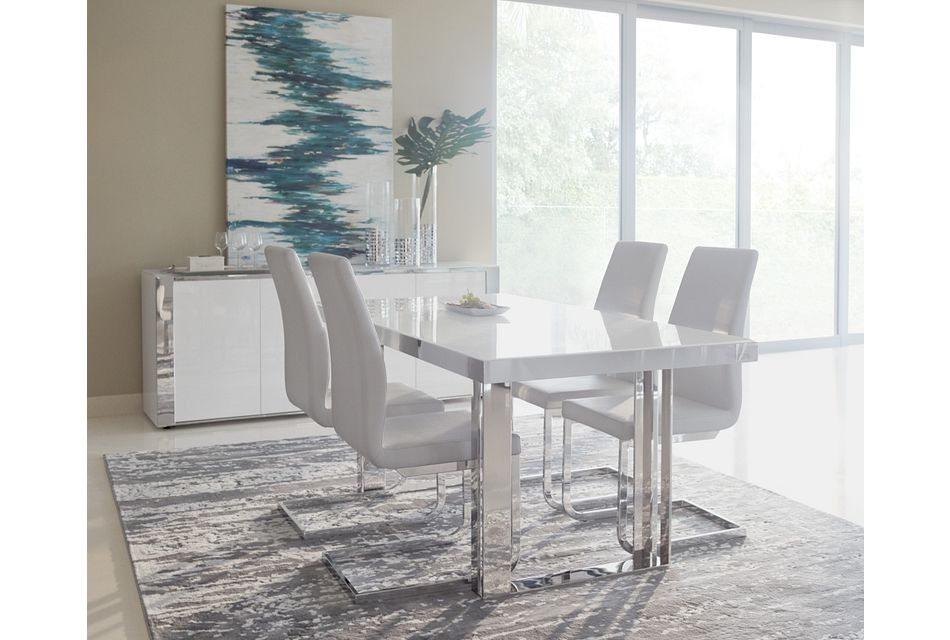 Harley White Rect Dining Room