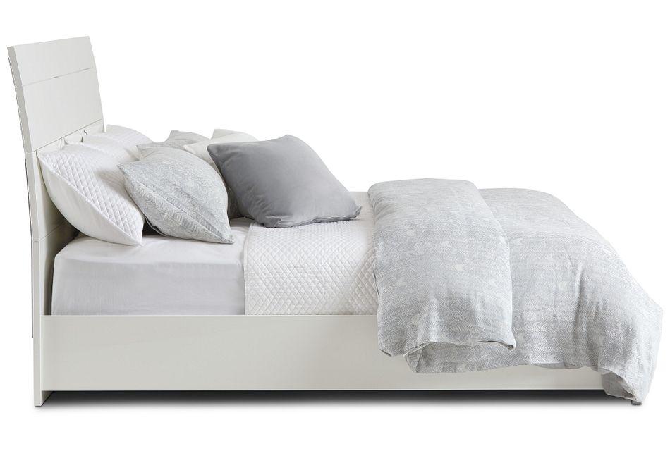 Oslo White Platform Bed
