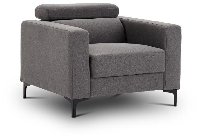 Trenton Dark Gray Fabric Chair (1)
