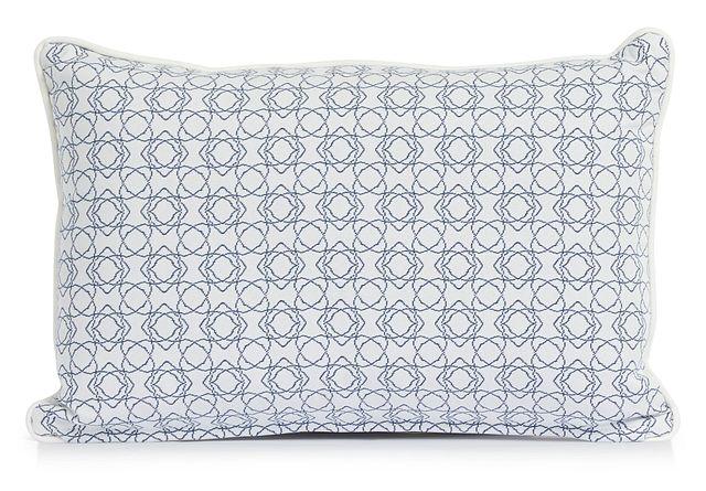 """Valley Blue 13"""" Indoor/outdoor Rectangular Accent Pillow (0)"""