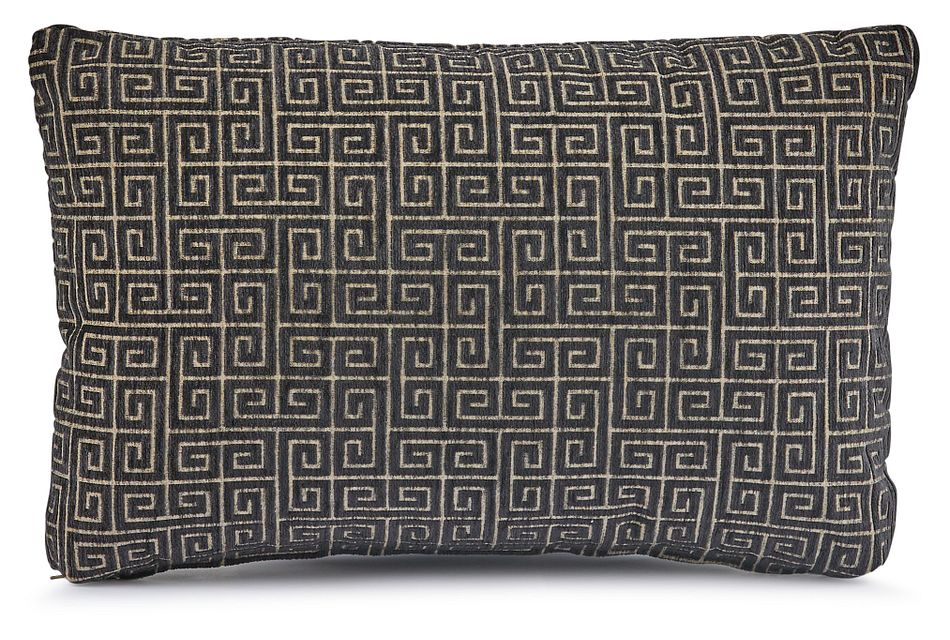 Keys Black Lumbar Accent Pillow