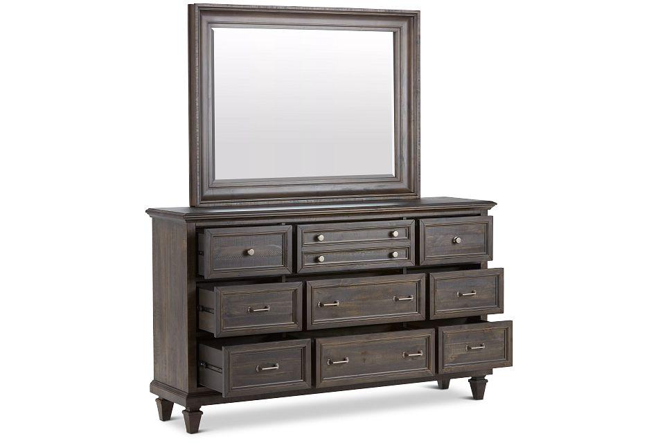 Sonoma Dark Tone Dresser & Mirror