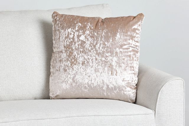 "Ethereal Light Pink Velvet 20"" Accent Pillow (0)"