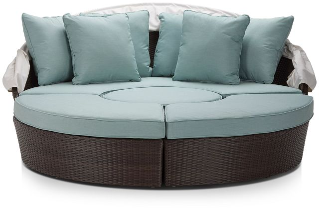Fina Teal Canopy Daybed (3)