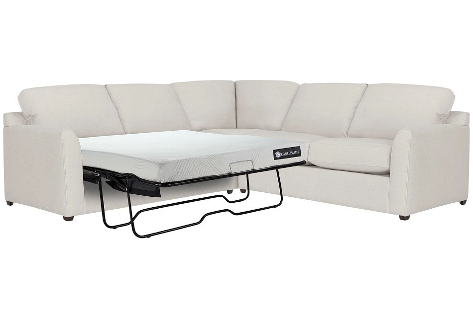 Asheville Light Taupe Cool Mfoam Two-arm Left Memory Foam Sleeper Sectional