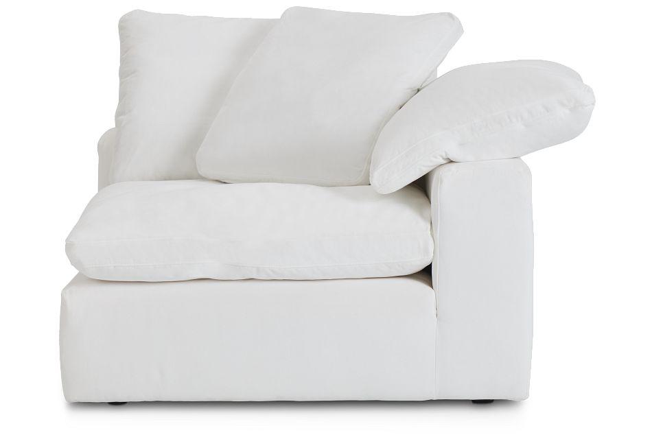 Nixon White Fabric Corner Chair,  (1)