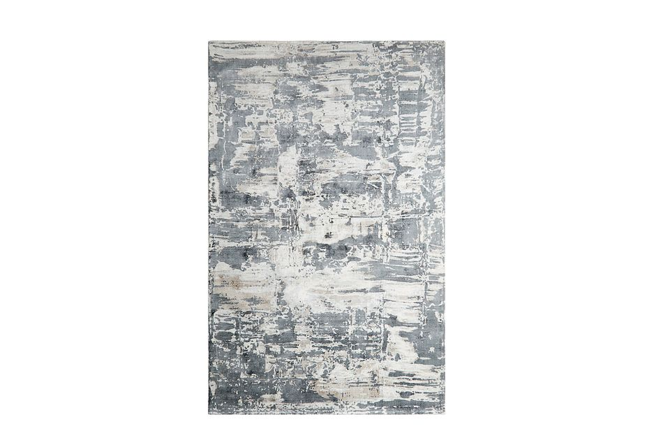 Aramac Gray Viscose Bl 8x10 Area Rug