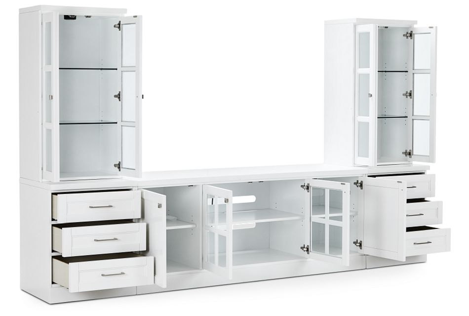 Newport White Medium Drawer Entertainment Wall