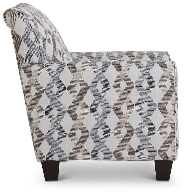 Myra Multicolored Fabric Accent Chair (2)