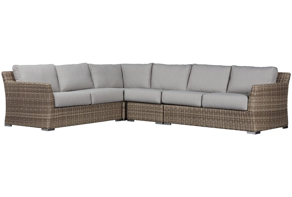 Raleigh Gray Woven Large Two-arm Sectional