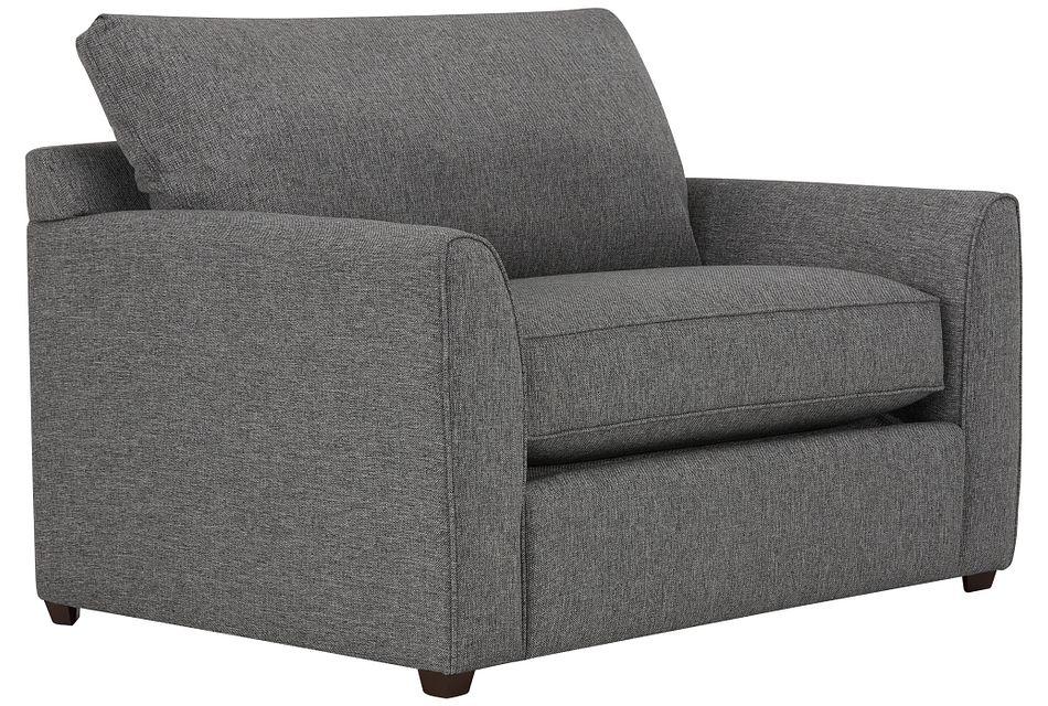 Asheville Gray Fabric Innerspring Sleeper, Twin (2)