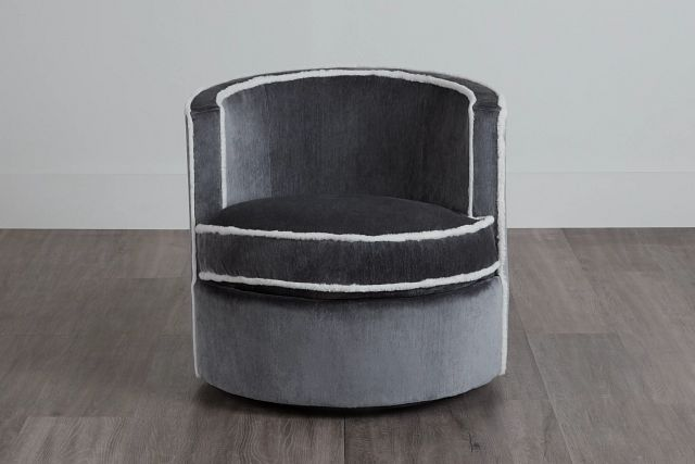 Fleur Dark Gray Fabric Swivel Chair (0)
