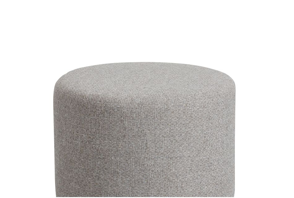 Reyes Gray Uph Accent Ottoman