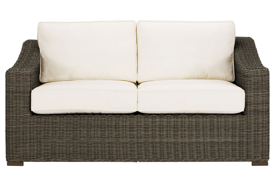 Canyon Gray White Loveseat