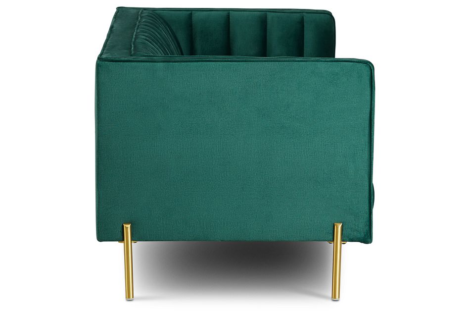 Bella Dark Green  Velvet Sofa,  (3)