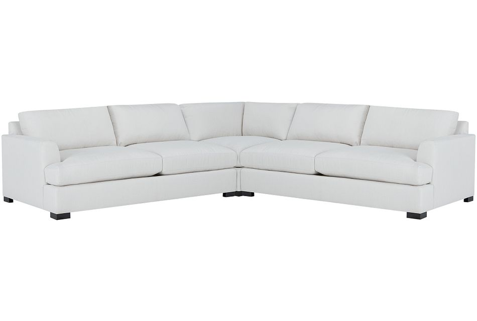 Adriana Light Taupe Fabric Small Two-arm Sectional