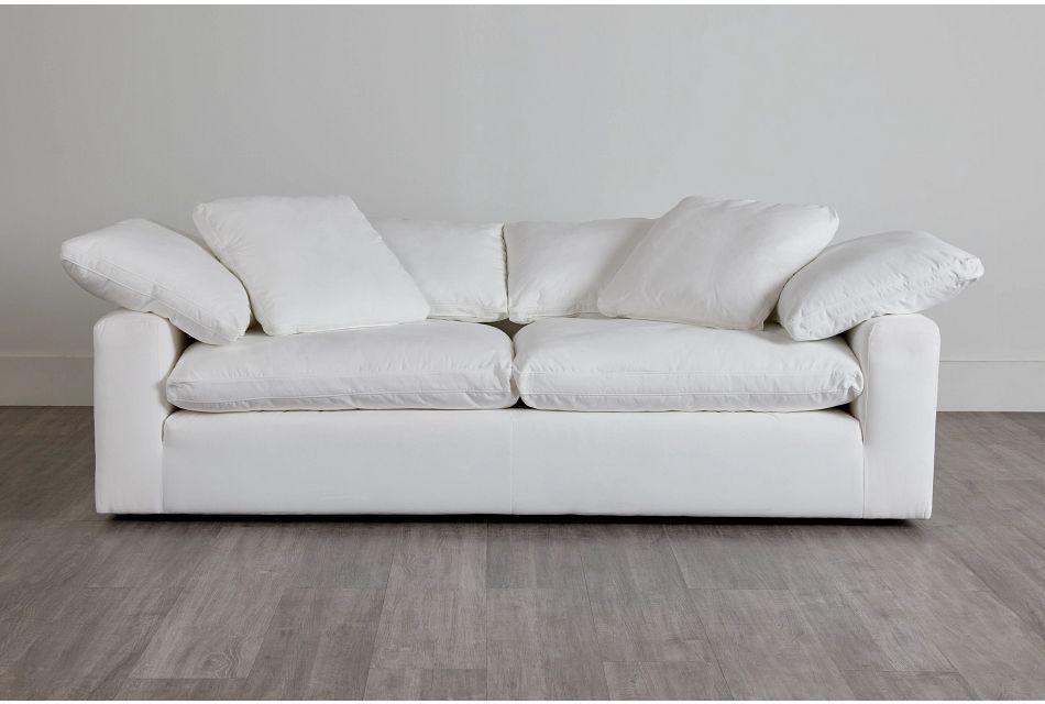 Nixon White Fabric Sofa,  (0)