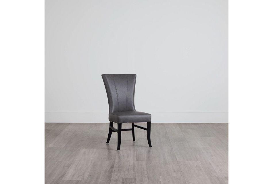 Lori Dark Gray Micro Side Chair,  (0)