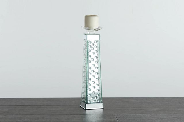 Averie Silver Large Candle Holder