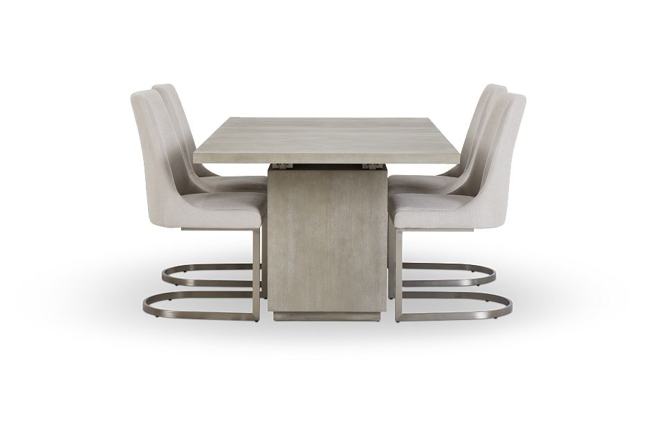 Madden Light Tone Rect Table & 4 Chairs,  (3)