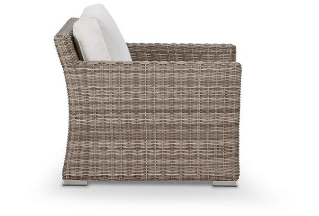 Raleigh White Woven Chair