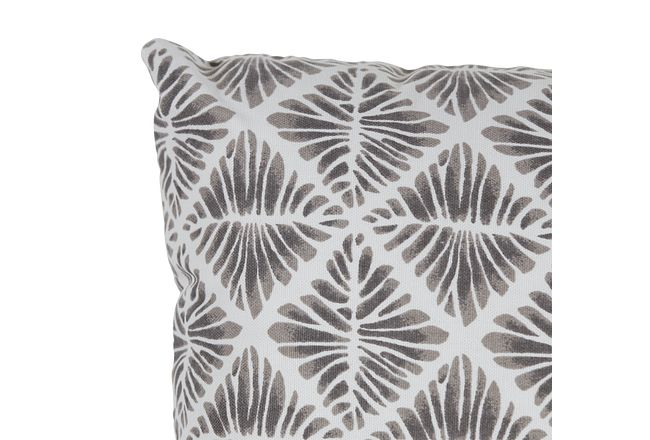 Gem Field Gray Lumbar Square Accent Pillow