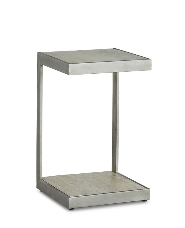 Amber Gray Wood Chairside Table (2)