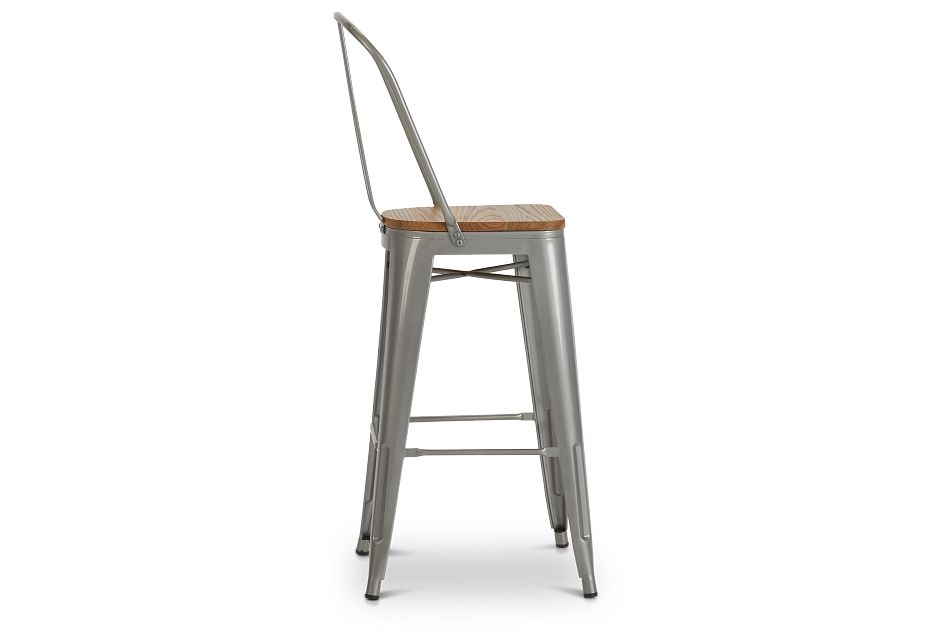 "Huntley Light Tone 30"" Wood Barstool,  (2)"
