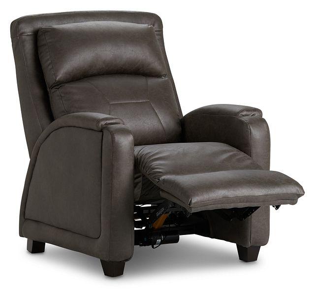 Davis Dark Gray Micro Zero Gravity Power Recliner W/heat & Massage (3)