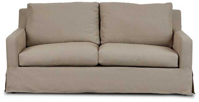 Bree Khaki Fabric Innerspring Sleeper (1)