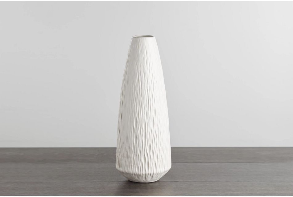 Waves White Medium Vase
