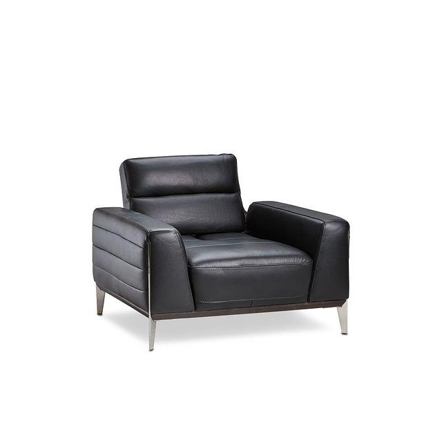 Gatlin Black Lthr/vinyl Power Push Back Chair (1)