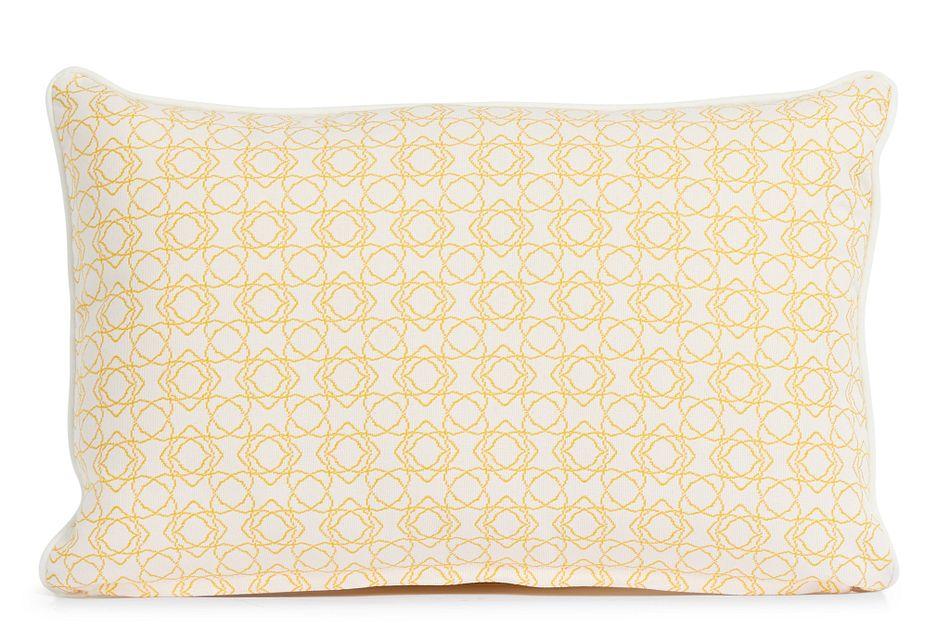 """Valley Yellow 13"""" Indoor/outdoor Rectangular Accent Pillow"""