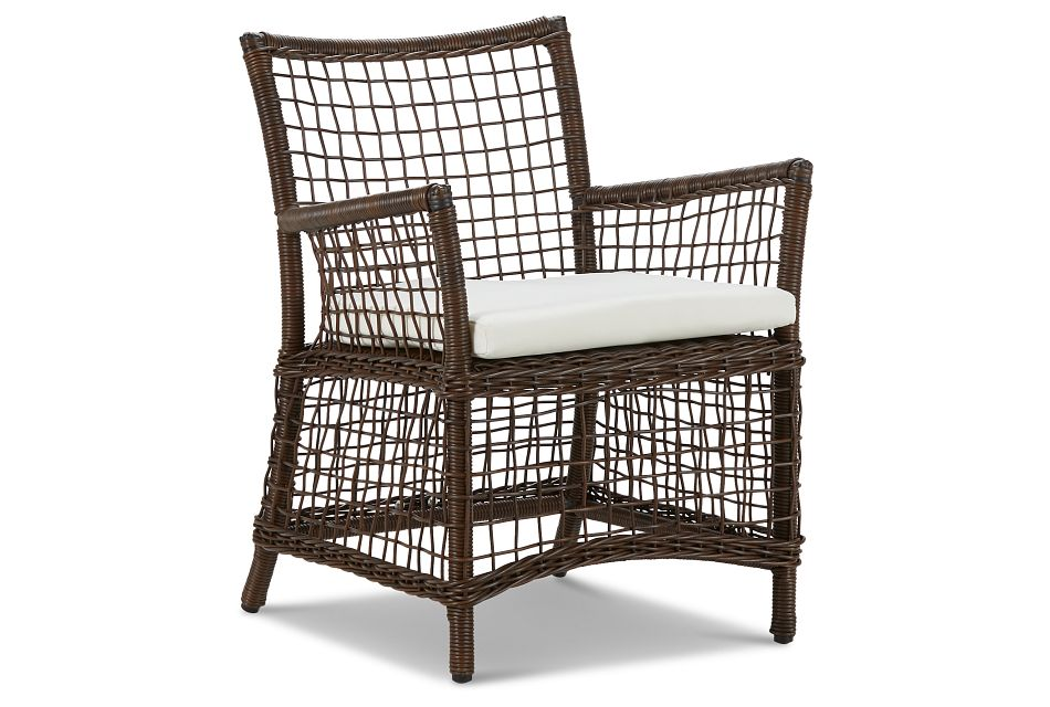 Southport White Woven Arm Chair