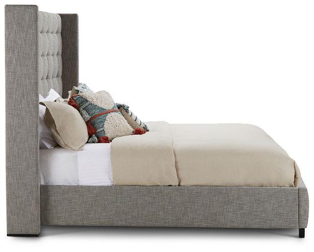 Chatham Pewter High Platform Bed